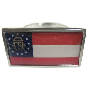 Georgia State Flag Fashion Ring